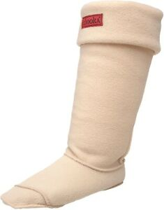 Chooka 240348 Womens Fleece Liners Boot Socks Solid Cream Size Small/Medium