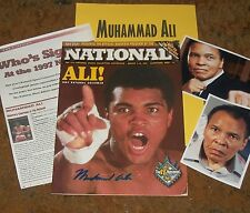 MUHAMMAD ALI Autographed Sports Conv. MGZ & Photos - REAL Collectible