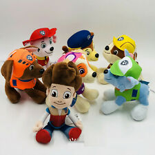 7 PCS Paw Patrol Plush Stuffed Animal Toy Set: Ryder Chase Rubble Marshall Skye