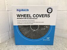 """New Boxed Wheel Trims 13 Inch 13"""" Set Gloss Black Pack Of 4 Easy Fit Upgrade"""
