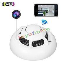 720P Covert CCTV Spy Hidden UFO Smoke Detector Wifi Camera Video Recorder DVR