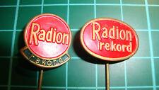 Radion Rekord - stick pin badge 60's speldje anstecknadel 2pcs