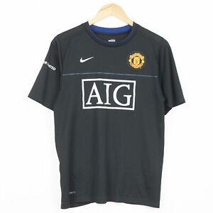 Manchester United 2008 Training Football Shirt Nike Jersey Black Size S