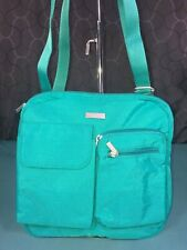 Baggallini Green Crossbody Shoulder Bag Travel Nylon Water Resistant