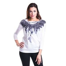 Innocent Freedom Heart Langarm Shirt Top Feder Feather Indianer #3153 002