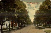 Punxsutawney PA West Mahoning St. c1910 Postcard #1