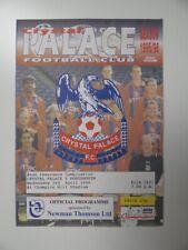 More details for crystal palace v portsmouth | 1995/1996 | reserves | 3 apr 1996 | uk freepost