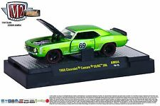 1:64 M2 Machines AUTO-MODS AM04 = GREEN Chevy 1969 Camaro SS/RS RACE CAR *NIB*