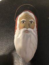 Artist Edna Oar Young Folk Art Shadowdancer Tin Santa Ornament Sculpture 1988