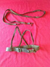 Antique or Vintage Real Leather Dog Harness and strap collectable