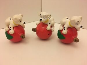 Vintage McDonald's Happy Meal 101 Dalmations Pup On Bauble Toy x3