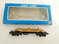 HO scale Life Like Forrest Lumber co. flat dump car  UP 82100  vintage