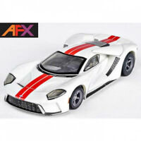 AFX 22021 Ford GT White / Red Mega G+ Slot Car HO Scale