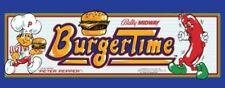 """Burger Time Arcade Marquee 23.5"""" X 9"""""""