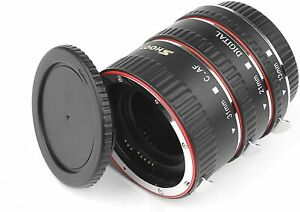 Auto Focus Macro Extension Tube Set Close up Lens for Canon EOS EF DSLR Cameras