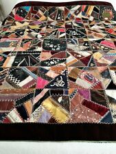 Antique Crazy Cutter Quilt ~ Beautiful Stitches ~ Velvet