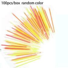 100 Pcs Glow Sticks Bracelets Necklaces Fluorescent Sticks Neon For Party L O3U1