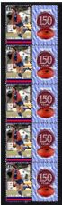 WEST PERTH FC WAFL 150th of FOOTBALL STRIP OF 10 VIGNETTE STAMPS