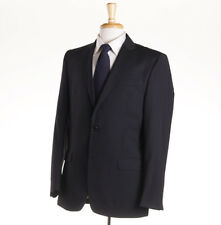 NWT $1195 VERSACE COLLECTION Solid Black Wool Suit 42 R (Eu 52) Two Button