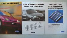 Prospekt Fiat Cinquecento/Suite/Sporting, 1.1997, 28 S.+Technik/Ausstatt+Leasing