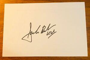 "JACK ROUSH USA NASCAR Personally Signed Autograph Auto Index Card 4""X6"""