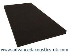 """Advanced Acoustics 2"""" Thick Class '0' Acoustic Studio Treatment Foam Panel Black"""