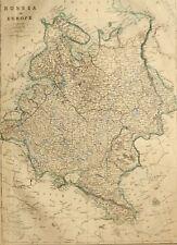 1865 ANTIQUE MAP RUSSIA IN EUROPE ST PETERSBURG FINLAND VOLHYNIA TRANSCAUCASIA