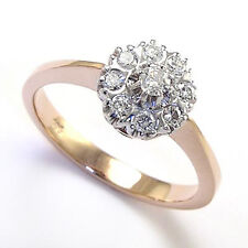14K ROSE & WHITE GOLD .40ct DIAMOND RING Malinka Ring Russian Jewelry 4-9.5 R739