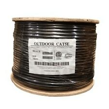 1000'Ft Cat5e Outdoor UV Direct Burial ethernet Cable network Inwall 100%