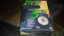 DVD or Blu Ray Replacement Case 3 Pack - BRAND NEW FACTORY SEALED