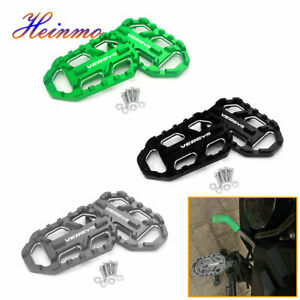 CNC Wide Foot Peg Footpegs Footrest For Kawasaki VERSYS X300 650 1000 2015-2019