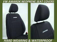 VOLKSWAGEN AMAROK FRONT& REAR NEOPRENE SEAT COVERS FULL COVERAGE+MAP POCKETS X 2