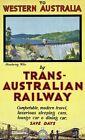"Vintage Travel Poster CANVAS PRINT Australia Emu Aboriginal Art 8""X 12"""