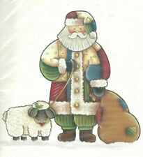 Ragamuffins Large Full Color Iron-On Transfers - Patchwork Santa