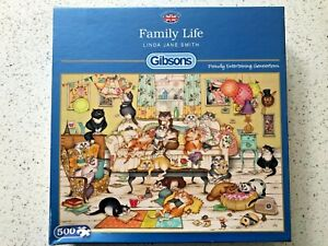 """Gibsons 500 pc Jigsaw Puzzle - """"Family Life"""" by Linda Jane Smith"""