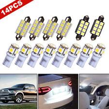 14Pcs/Set White LED Car Interior Light Map Lamp Bulbs Package Kits Universal
