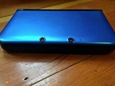 Blue Nintendo 3DS XL video game system + games + travel bag