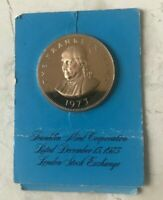 1973 Franklin Mint London Stock Exchange Bronze Medal Proof