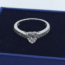 Swarovski Crystal Attract Heart Ring Size 52
