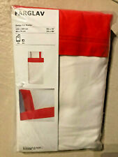 Ikea Färglav Set de Linge Lit 2-tlg. 140 X 200 cm 60x 70cm Rouge Blanc Neuf