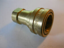 "New Hansen 1"" NPT Brass Valved Quick Connector Socket, Female Thread, B8-HKP"