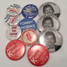 POLKA Fan Club Collectible Button Pins Johnny Prytko Lenny Gomulka Jak Sie Masz