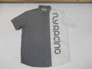 FLY RACING MOTOCROSS OFFROAD PIT MOTORCYCLE SHIRT BUTTON UP COLLAR MEDIUM MENS