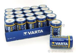 20 x Varta Industrial Baby C MN 1400 LR14 1,5V 4014 Alkaline in Folienpackung
