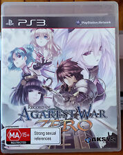 PS3 Game Record Of Agarest War Zero Generations Of War Manual Included EXCELLENT