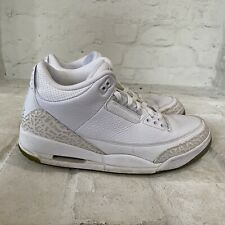 Nike Air Jordan 3 III Retro Pure White Men's Size 11 Triple White 136064-111