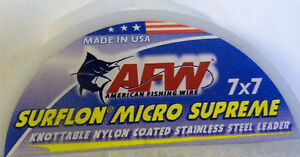 AMERICAN FISHING WIRE - MICRO SUPREME 7X7 MULTI SURFLON LEADER STAINLESS- COATED