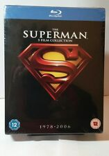 Superman:5 Movie Collection - 1978-2006 (Blu-ray Disc,2012,5-Discs) NEW-Free S&H