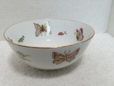"""Bowl with Butterflies Marked on Bottom with Gold """"LJ""""  6"""" x3"""""""