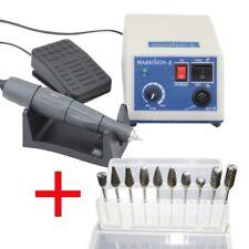 Dental Lab Micromotor Elektromotor Marathon Poliermaschine Maschine + 10 Bohrer